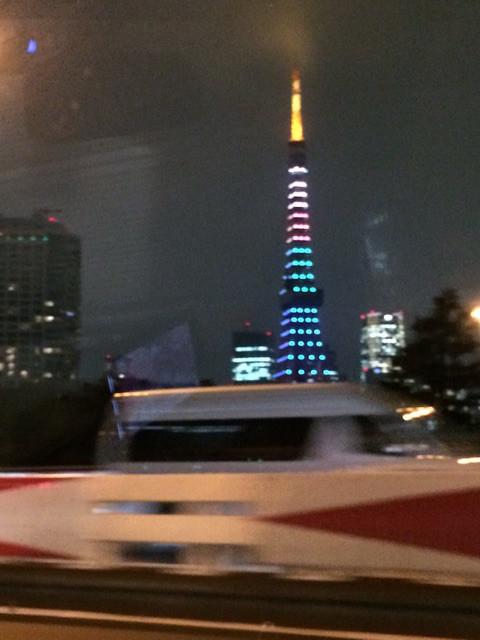 2月22日だけの特別ライトアップした東京タワー