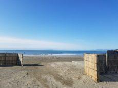 神奈川県鎌倉市にお邪魔したときに海に立ち寄りました