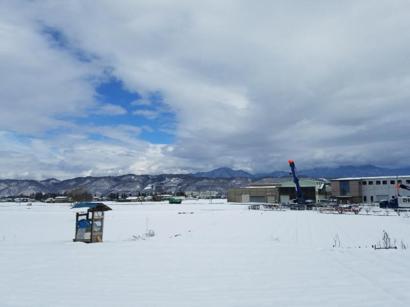 長野県安曇野市の眺め