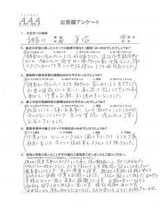 お客様アンケート 神奈川県平塚市 アライグマ対策工事